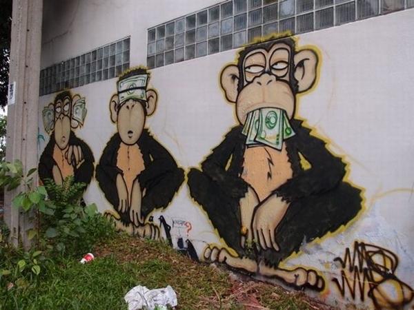 El gobierno y los tres monitos