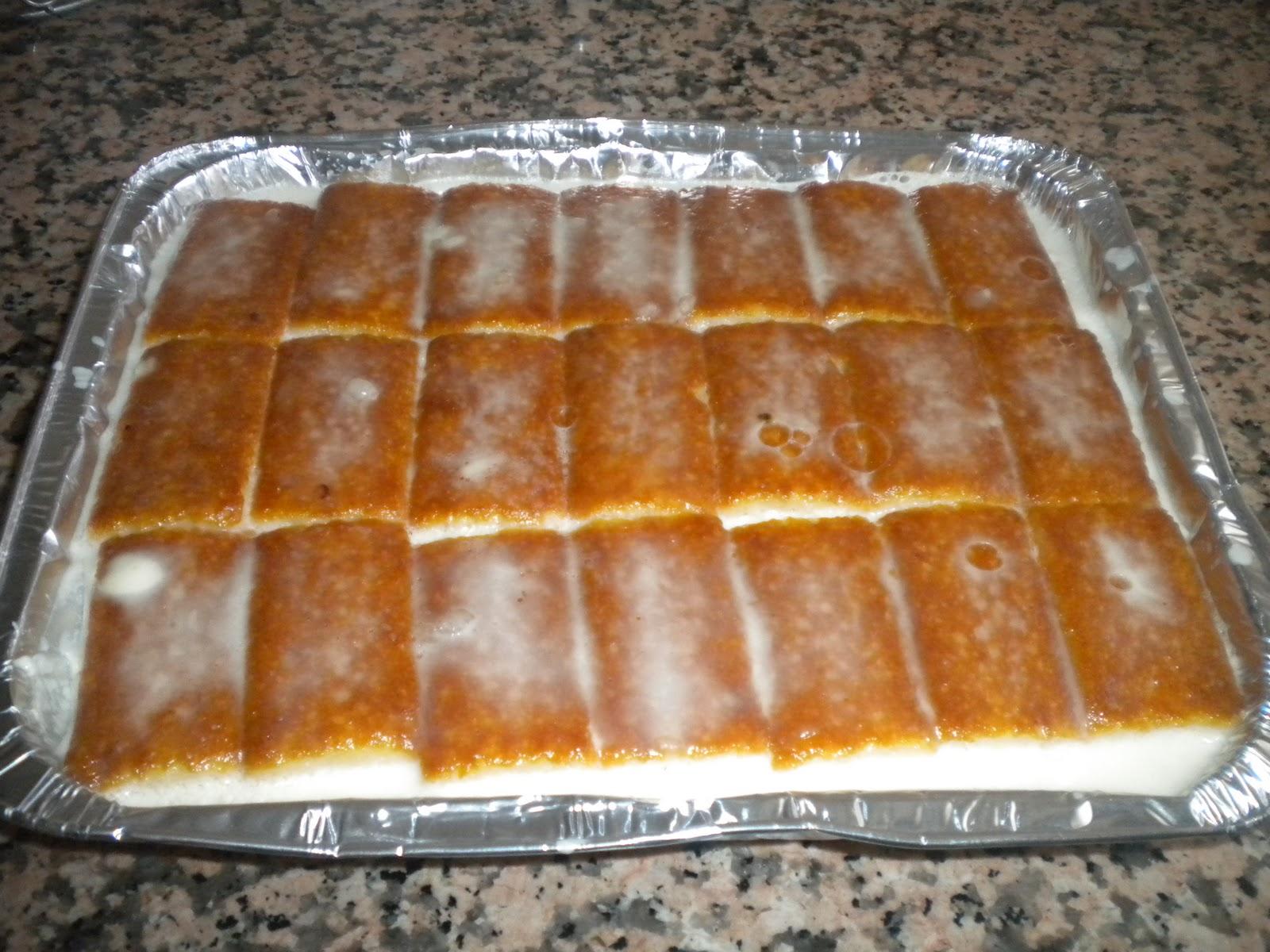 Tarta de flan y ananá sin horno