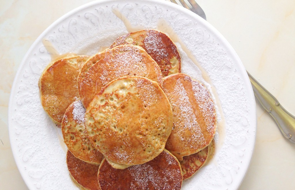 Tortitas de manzana y miel