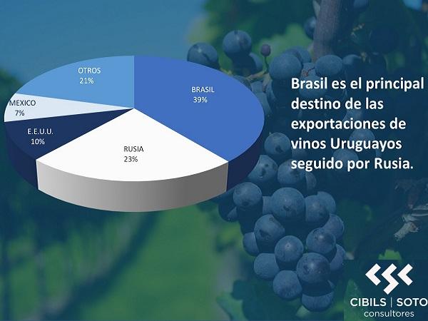 En el año las exportaciones de vinos crecieron 57 %