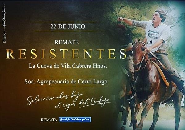 Los caballos Resistentes salen hoy desde Cerro Largo con el martillo de Valdez