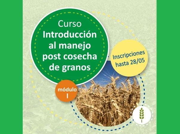 Están abiertas las inscripciones para el curso poscosecha de granos