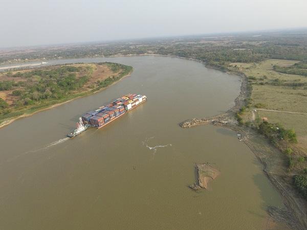 El río Paraguay marca un descenso histórico